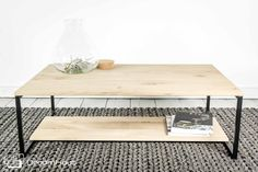 AMSTERDAM - Houten salontafel. Nieuw design! Lekker licht, stoer en passend in ieder interieur. #meubelen #hout