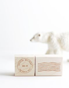 that @Tristan O'Tierney B. | Besotted Brand is always so clever! North Pole special delivery postmark and cancellation stamp set | Besotted Brand