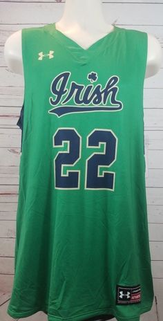 42eec6ae7 Under Armour  22 Notre Dame Fighting Irish Green Basketball Jersey Size  Large  Underarmour