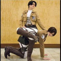 AoT - Levi and Eren by my two most absolute favorite cosplayers Cim(Eren) and Eva(Levi) ❤