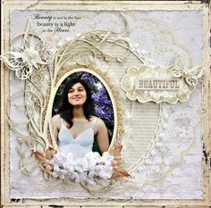 Beautiful ~ Lovely bridal portrait page.