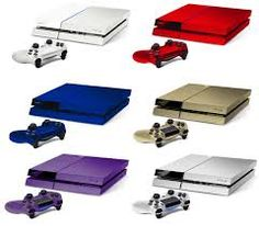 Different colors of playstation