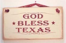 Sign - God Bless Texas TG445