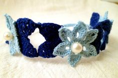 Water Lily Lace BraceletPattern BY THE SCULLERY MAID