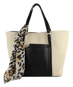 Look at this emilie m. Natural & Black Cindy Tote on #zulily today!