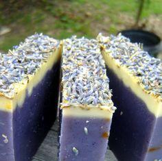 Lavender and sandalwood handmade soap