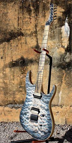 Black Water Guitars, love that pail moon ebony fretboard!
