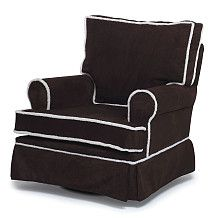 """Rock-A-Bye Adult Chocolate Micro Square Back Glider - Rock-A-Bye - Babies """"R"""" Us"""