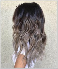 44 The Best Hair Colour Ideas For A Change-Up This Year, Gorgeous Balayage Hair Color Ideas - Blonde ombre hair, Balayage Highlights,Beachy balayage hair color Brunette Color, Balayage Brunette, Hair Color Balayage, Balayage Highlights, Ash Balayage, Ombre Hair Brunette, Ombre Hair Colour, Silver Hair Highlights, Brunette Highlights