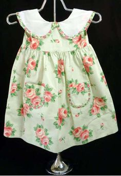 Girls Dress Size 3T Rose Pink Floral Green Spring Summer Sun
