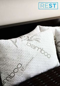 Bamboo Memory-Foam Pillow: Bamboo Pillow ` Forget counting sheep when you lay your head on this plush hypoallergenic pillow from REST (Research Enhanced Sleep Technology). The made-in-the-USA pillow is stuffed with 100% blended memory foam and encased in a soft, cooling bamboo cover that is machine-washable and dryer safe, and comes with a 10-year warranty $29