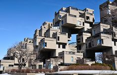 Habitat 67 Montreal. Is that still up? It was ugly then, when I saw it in 1967.