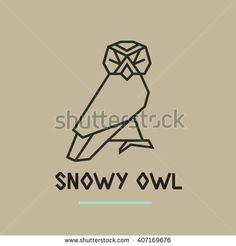 stock-vector-polygonal-linear-icon-design-of-snowy-owl-407169676.jpg (450×470)