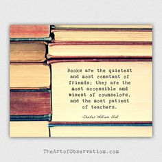 Reading Quote, Books Photography Print, Bibliophile