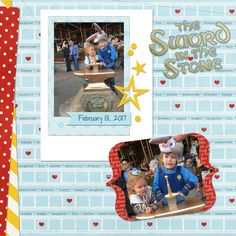 disneyland vacation digital scrapbook layout sword in the stone fantasy land disney scrap book page project mouse fun