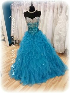 Deep blue ballgown with lots of sparkle!  #bridalcottageprom  #thebridalcottage