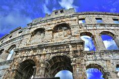 Pula Arena, Croatia #Amphitheater #Zulma #Fineartphotography #Croatia #Pula #Roman #landmark# #monument    http://fineartamerica.com/featured/2-pula-arena-croatia-photos-by-zulma.html