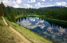 Mountain Biking the Valley of the Five Lakes Trail, Jasper