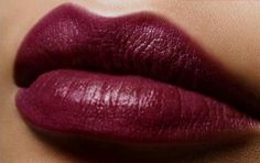 Fall 2013 Lip color inspiration: Deep red or burgundy lipstick.