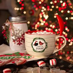 Snow Pals - Cheers to Friends! Ceramic Soup Bowl Mug with Spoon Christmas Themed Kitchenware Christmas Coffee, Christmas Morning, Winter Christmas, Xmas Theme, Christmas Themes, Merry Christmas And Happy New Year, Christmas Greetings, Santa Baby, Mistletoe And Wine