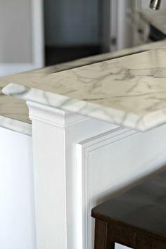 formica ideal edge. ogee edge on calacatta marble