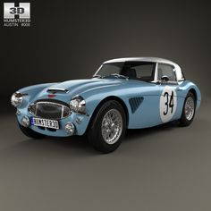 Austin-Healey 3000 Rally 1964 3d model from Humster3D.com.