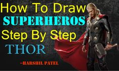 How To Draw SuperHeroes Step by Step - (PART-1) | THOR