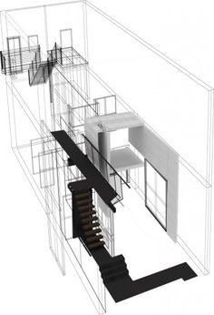 Kent Bellows Studio and Center for Visual Arts / Randy Brown Architects _ model