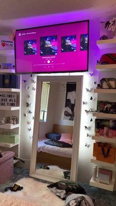 Cute Bedroom Decor, Room Design Bedroom, Indie Room Decor, Aesthetic Room Decor, Room Ideas Bedroom, Pretty Bedroom, Neon Room, Glam Room, Dream Rooms