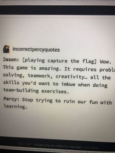 Team Building Exercises, Capture The Flag, Percy Jackson Memes, I Am Done, Teamwork, Crossover, Wattpad, Fire, Thoughts