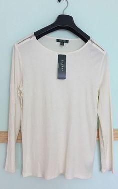 NWT Ralph Lauren Plus Size Women's Long Sleeve Cream Top 1X/2X/3X #RalphLauren #KnitTop