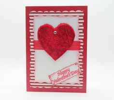Handmade Valentines Day Card with Velvet Fabric Heart/ Mixed Media Card by SilverGlowDesigns on Etsy
