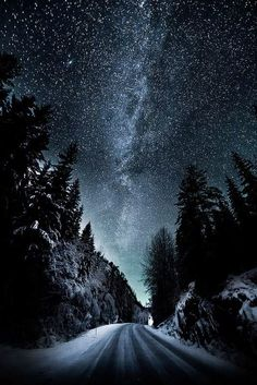 Winter road by torehegg