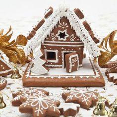 Gingerbread House - RECEITA - dica: se quiser o biscoito um pouco mais escuro, coloque 1/2 xícara de mel e 1/3 de xícara de melado ou maple syrup – espécie de xarope muito comum nos países da América do Norte)