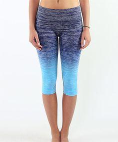 Love this Blue Ombré Capri Leggings on #zulily! #zulilyfinds