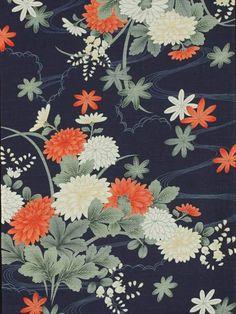 浴衣反物 菊柄