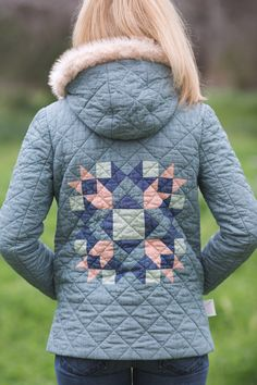 Quilted  Cascade Duffle Coat by Ginger Peach Studio.  Pattern from Grainline Studio.