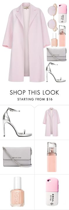 """""""Pinkie promise"""" by aemun-ahmad ❤ liked on Polyvore featuring Yves Saint Laurent, Paul Smith, MICHAEL Michael Kors, HUGO, Essie and Le Specs"""