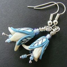 Blue earrings by Pips' Jewellery Creations    http://www.etsy.com/shop/pipsjewellery?page=2