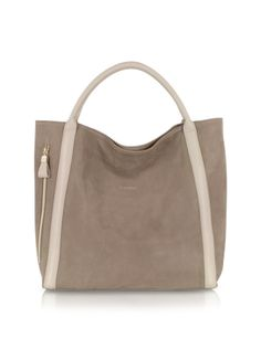 See by Chlo� Harriet Nubuck w/ Leather Trim Hobo Bag
