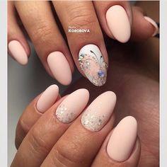 Beautiful delicate nails, Butterfly nail art, Butterfly nails ideas, Glitter nails ideas, Ideas of gentle nails, Matte nails, Oval nails, Painted nail designs