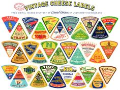 VITAGE CHEESE LABELS