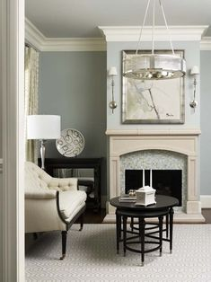 sherwin williams comfort gray. I usually like more contrast but this is pretty too