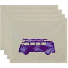 Simply Daisy 18 inch x 14 inch BeachDrive Geometric Print Placemat, Purple