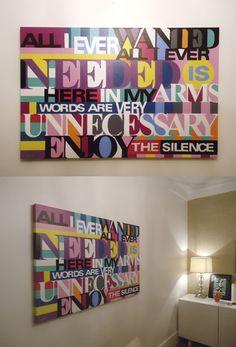 ENJOY THE SILENCE | LOBO | POP ART www.lobopopart.com.br