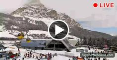 View of the #Sassongher Mountain and the gondola Boé, 1200 km. of ski slopes. Watch the live images of #Corvara, #Italy