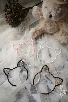 [Zan] [stall] through BJD 1/3 1/4 beaded cat ears headband [two / 5 colors] - Taobao