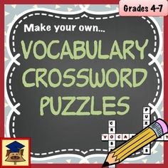 Make Your Own Vocabulary Crosswords