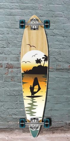 """Longboards USA - Punked Surfer Pintail Longboard 40"""" Natural, $107.00 (http://longboardsusa.com/by-riding-style/longboards-for-beginners/punked-surfer-pintail-longboard-40-natural/)"""