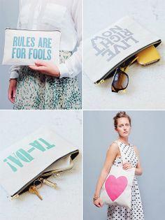 Alphabet Bags sponsored our #bywstudio loot http://decor8blog.com/2012/12/13/alphabet-bags